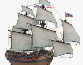 Third Rate ship of the line 3D model