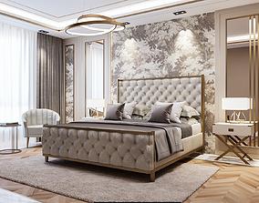 Modern Bedroom Interior bed 3D model