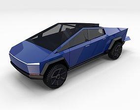 3D Tesla Cybertruck Blue