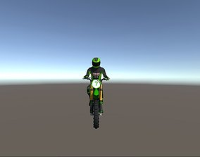 3D model Low Poly Dirt Bike With Rider-4