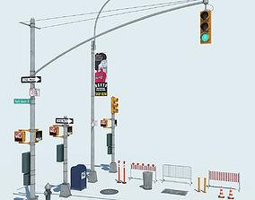 NYC Street Elements 3D