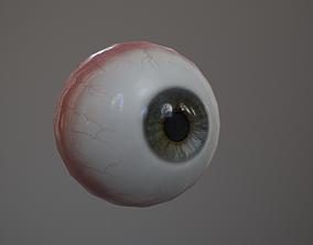 3D model low-poly Human Eye