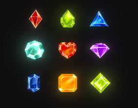Gem Stone Collection - Lowpoly 3D model