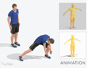 3D model Side step Exercise Man Animation