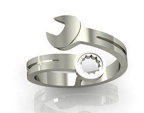 3D print model wrench ring