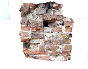 fragment of an old wall with texture 3D