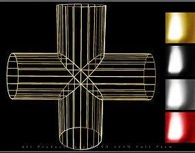 Wire Pipe Cross - Joint 3D model