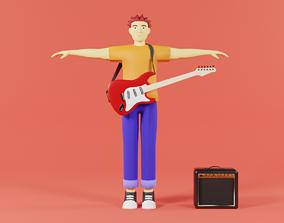 3D asset Rocker Man Cartoon Character character