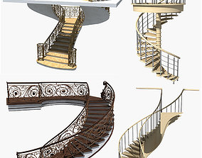 Collection of Spiral Staircase 3D model