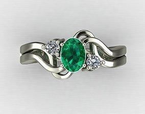 3D printable model Emerald ring