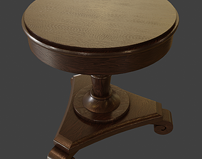 3D model Old Rustic Round Table