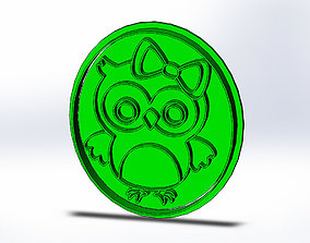 Owl Cookie Cutter 3D