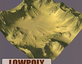 3D asset game-ready Lowpoly Mountain