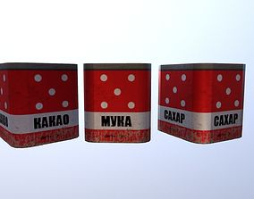 3D asset Old Soviet Kitchen boxes
