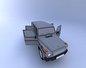 transportation Mercedes G-Class with Interior 2002 3D model