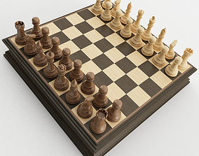 Chess Set 3D model poly