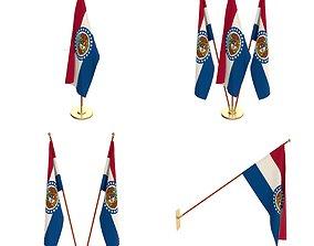 Missouri Flag Pack 3D