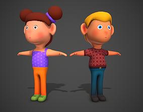 Cartoon Characters 3D asset
