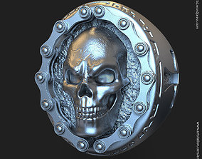 biker skull vol2 ring 3D printable model