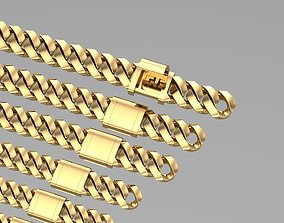 3D cuban chain and lock NEW FASHION