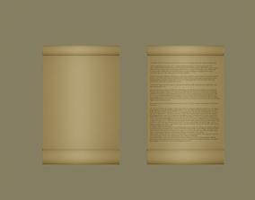 Scroll 3D asset
