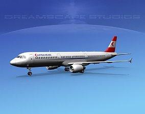 3D Airbus A321 Austrian