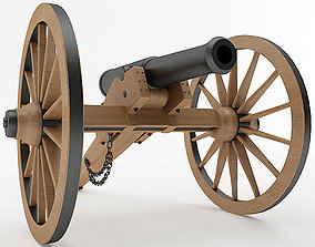 Napoleon Model 1841 6 pounder Field Gun 3D