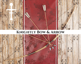 Medieval Knightly Bow and Arrow 3D model