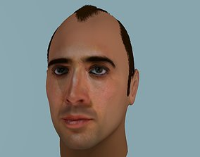 3D model of Nicolas Cage with hair