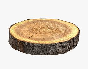 3D model game-ready Wood Log Slice Low-Poly