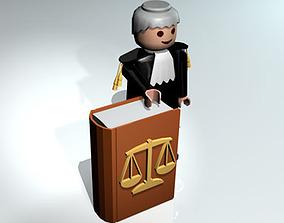 3D model Lawyer toy figure