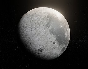 Photorealistic Moon 8k Textures 3D Model low-poly