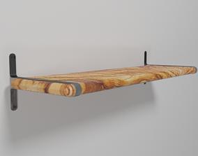 3D Minimalist Scandinavian Shelf