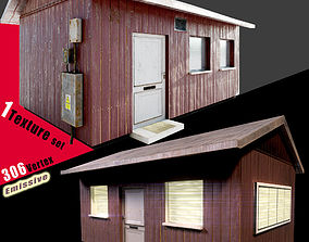 Small House 3D asset low-poly