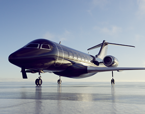 private jet black - ANIMATABLE PARTS 3D model