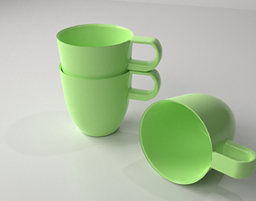 Stackable Ceramic Cup 12 3D