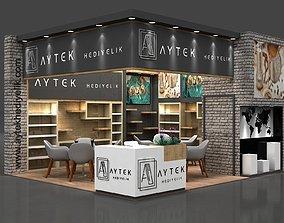 3D model Aytk Stall Size 6 m x 5 m Height 366 cm
