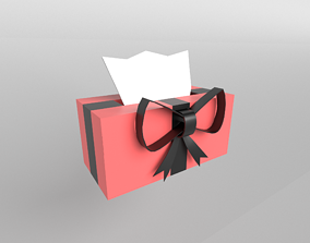 3D model Present Tissue Box v1 006