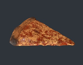 3D asset game-ready Pizza Slice