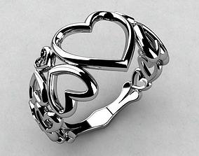 3D print model ring hearts