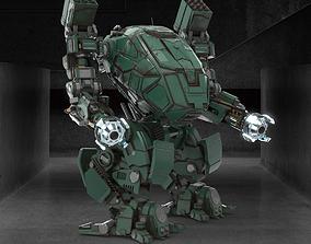 3D asset Military Mech