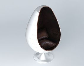 armchair Coquille houses the world 3D model