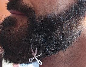 3D print model Scissors for beard - lateral wearing