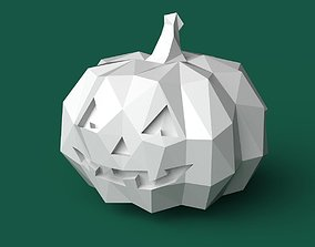 Printable Pumpkin low poly