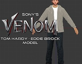 rigged Tom Hardys Eddie Brock 3d Model
