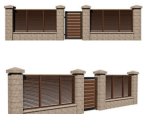 3D fence with gate