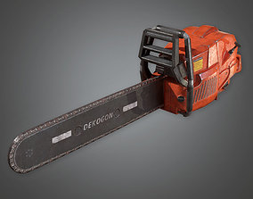 3D asset TLS - Chainsaw 02 - PBR Game Ready