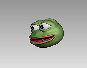 3D print model pepe the frog keychain