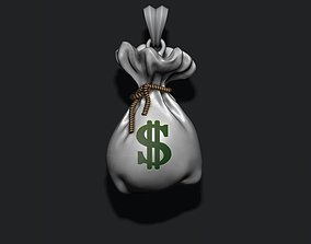 3D printable model Money Bag pendant