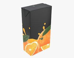 Juice 2000ml cardboard box packaging 3D model